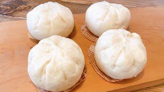 Công thức làm bánh bao nhân thịt vỏ bánh nhồi bột bằng tay xốp mềm trắng mịn 肉まんの作り方