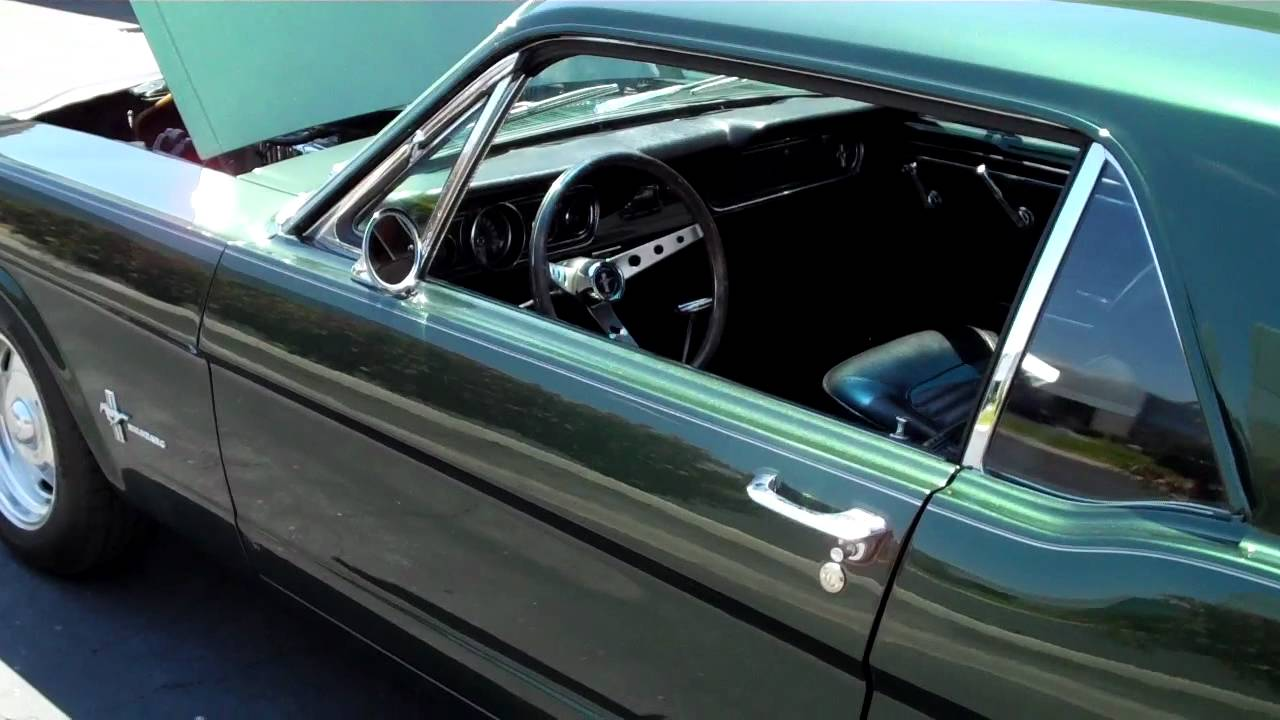 1966 ford mustang 200 c i 6 cylinder youtube