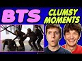 BTS Clumsy Moments REACTION!!