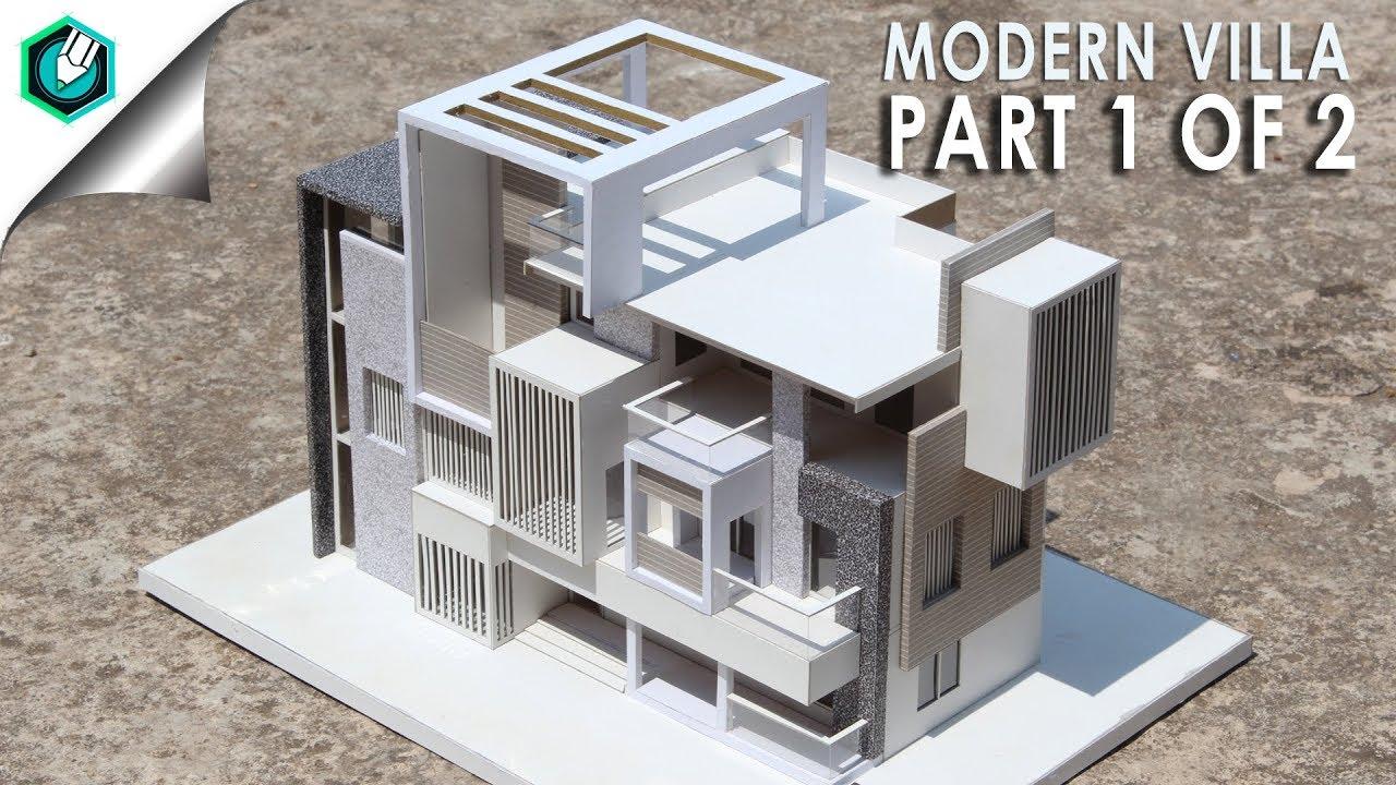 Modern villa 2 how to make realistic villa house part 1 of 2