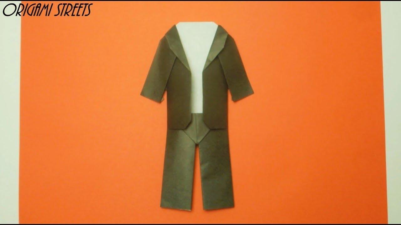 Как сделать из бумаги пиджак