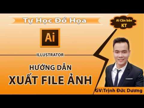 Xuất tệp trong Illustrator - Lưu jpg, png, jpeg, pdf trong AI | Đồ họa tự dạy