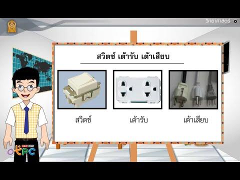 อุปกรณ์ในวงจรไฟฟ้า ตอนที่ 3 - สื่อการเรียนการสอน วิทยาศาสตร์ ม.3