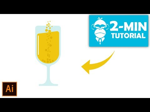 Flat Design Champagne Glass - Illustrator Tutorial