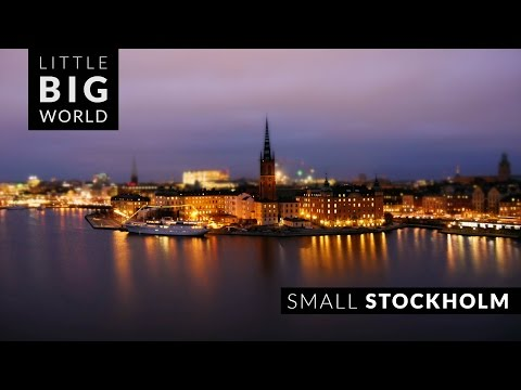 Small Stockholm (4k - Time Lapse - Tilt Shift)