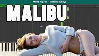 Malibu Easy Piano Tutorial - Free Sheet Music (Miley Cyrus)