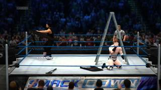 WWE 2K14 Roman Reigns VS Sheamus EXTREME RULES Gameplay