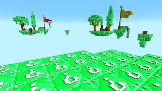 MINECRAFT EMERALD LUCKY BLOCK SKYBLOCK WARRIORS with The Pack
