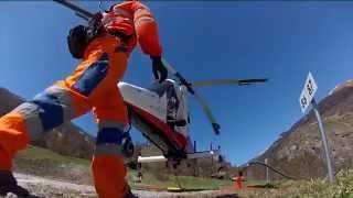 Heli logging, K-MAX Helicopter K-1200, in Switzerland - Débardage par hélicoptère K-MAX en Suisse