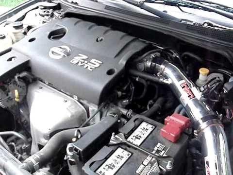 2005 Nissan Altima 25 S Injen Startup & Revving  YouTube
