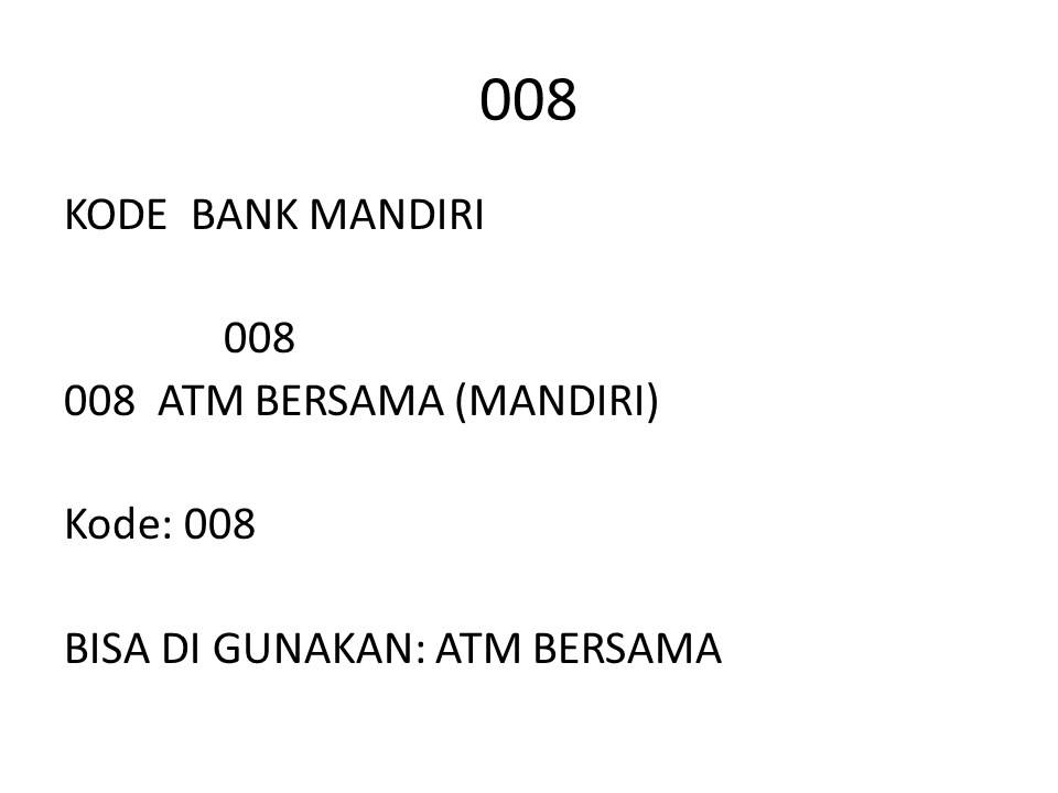KODE BANK MANDIRI - YouTube