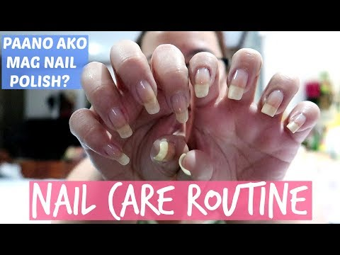 MY NAIL CARE ROUTINE + HOW I PAINT MY NAILS! PhillineInaVlogs