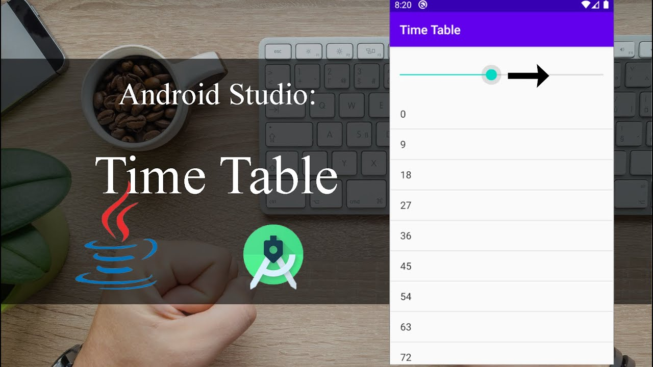 Time Table - Android Tutorial