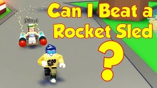 Can I Beat a Rocket Sled? - ROBLOX Adopt Me Speed Running