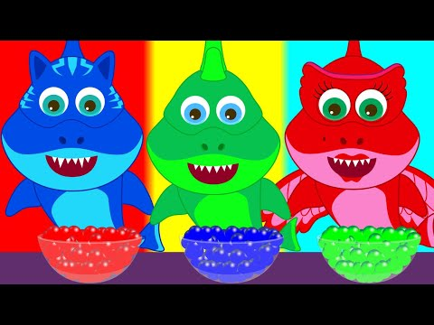 Colored Baby Shark PJ Masks   New Baby Shark Song Nursery Rhymes and More