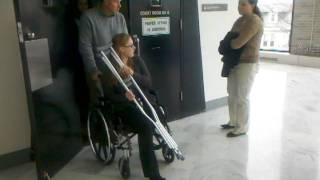 Ashley Zauflik leaving the Bucks County Court