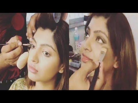 Jaya Jaya Vinayaka Serial Actress Parvathi On Location Makeup Video