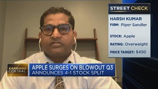 Apple's blowout Q3 earnings: Piper Sandler's Kumar