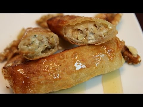 Cheese Walnut Spring Rolls Recipe - CookingWithAlia - Episode 322