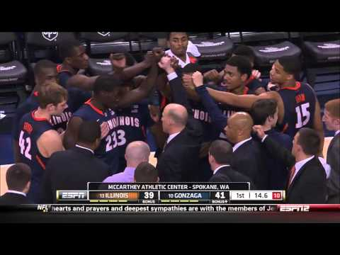 2012-2013: Illinois @ Gonzaga 12-8-12