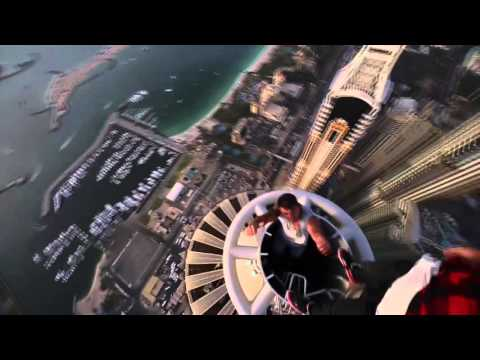 Russian guys on the roof top in Dubai  Princess Tower  414 m 1,356 ft 2