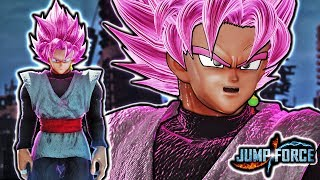 NEW ROSE GOKU BLACK IN JUMP FORCE! Goku Black Super Saiyan Rose CUSTOM AURA Gameplay Mod