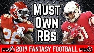 Must Own Running Backs - 2019 Fantasy Football
