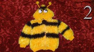 Детская кофта джемпер или курточка вязание спицами подарок своими руками 2