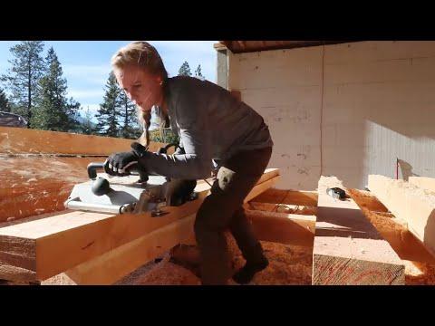 COLLEGE GRAD SHOCKS HER PARENTS! (Planing Timber Frame Beams)