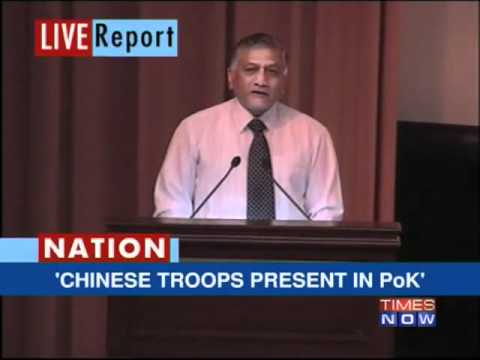 4,000 Chinese in PoK: Army Chief Singh