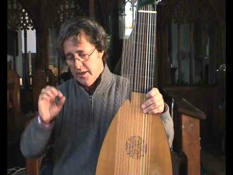 David Miller demonstrates trills on the Baroque Lute.