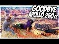 He Almost Rode His Apollo Off A Cliff! Apollo 125cc First Ride In Construction Area