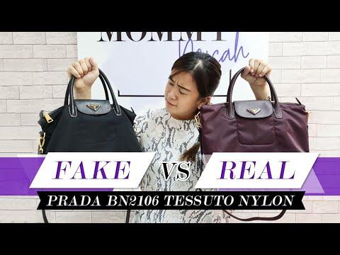 Fake vs. Real: Prada BN2106 Tessuto Nylon