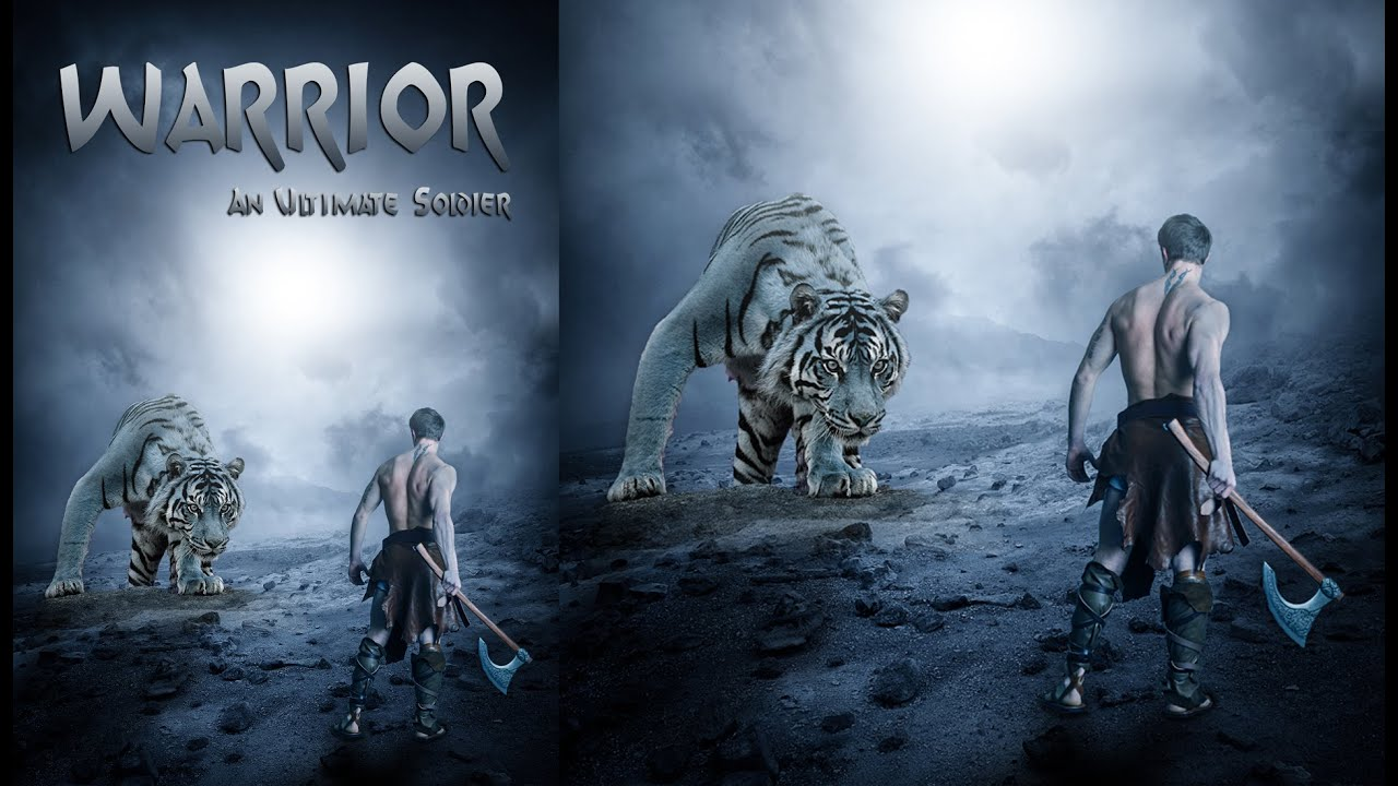 Poster design in photoshop - Warrior Movie Poster Design Photoshop Tutorial