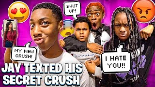 JAY TEXTED HIS SECRET CRUSH & MACEI GOT INTO A ARGUMENT WITH BAM!💔