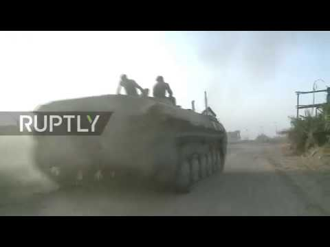 Syria: Army exhibits IS weapon stockpile in Deir ez-Zor following liberation