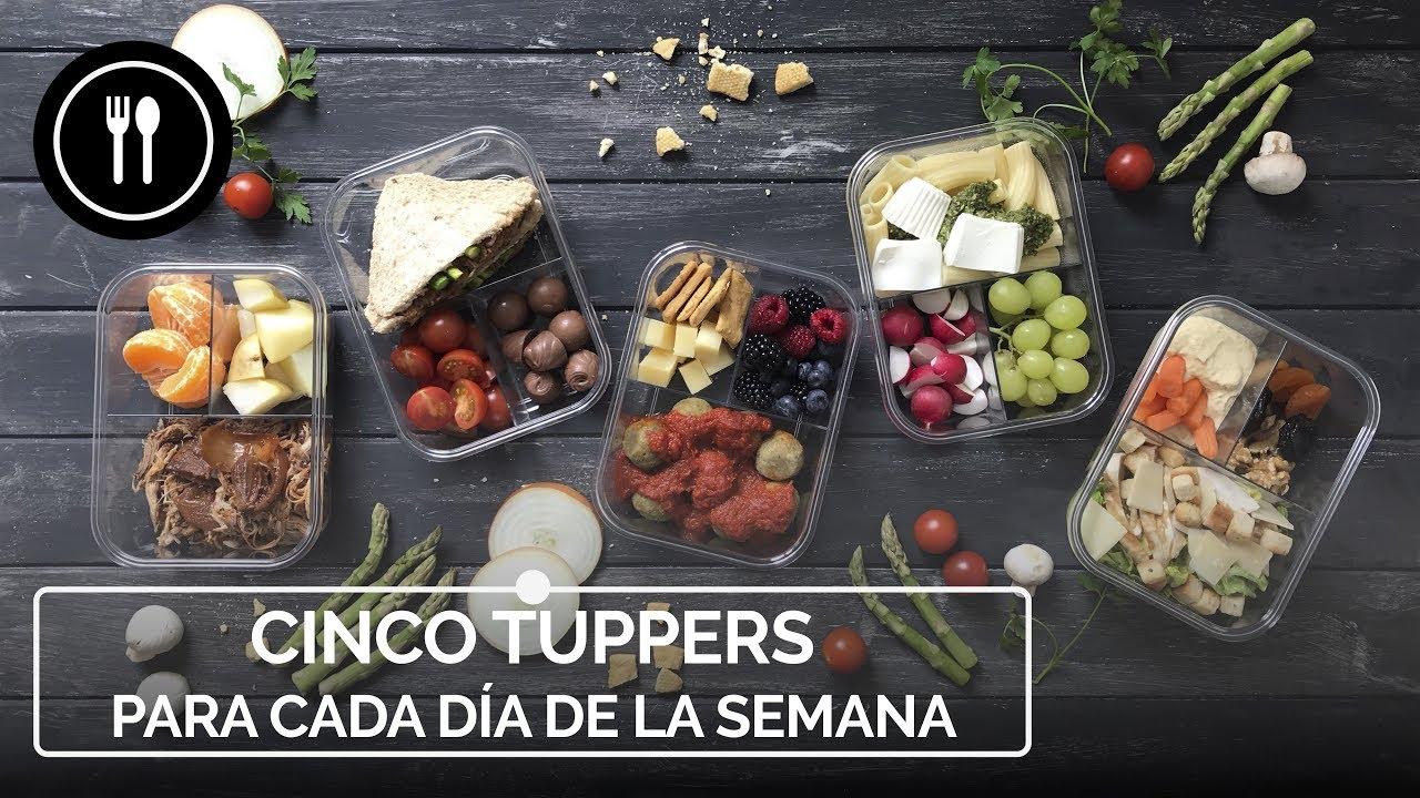 menú semanal saludable tupper