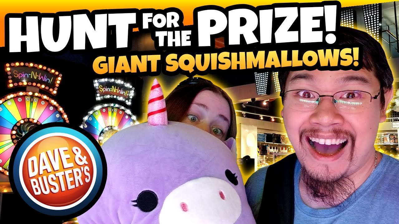 Its So Squishy Giant Squishy Unicorn Squishmallow Hunt For The Prize At Dave And Busters Teamcc