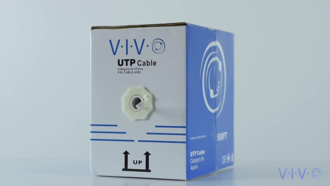 500 ft bulk Cat5e Ethernet Cable / Wire UTP Pull Box 500ft Cat-5e ...