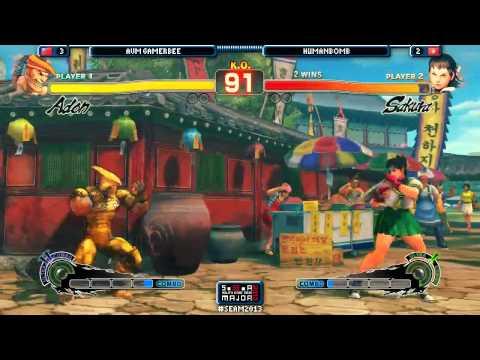SEAM 2013 - Adon (GamerBee) vs. Sakura (Humanbomb) [Winners Final] [SSF4 AE 2012] FT5