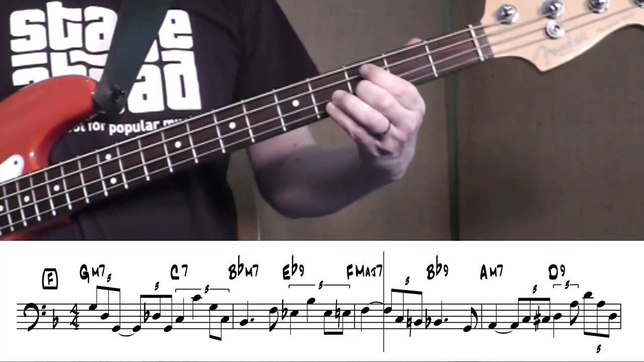 jazz bass for beginners when sunny gets blue youtube. Black Bedroom Furniture Sets. Home Design Ideas