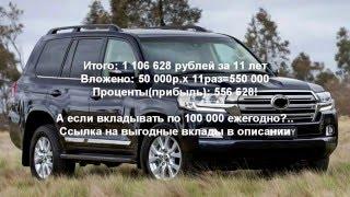 Выгодные вклады в банке. 1 000 000 рублей за 11 лет.