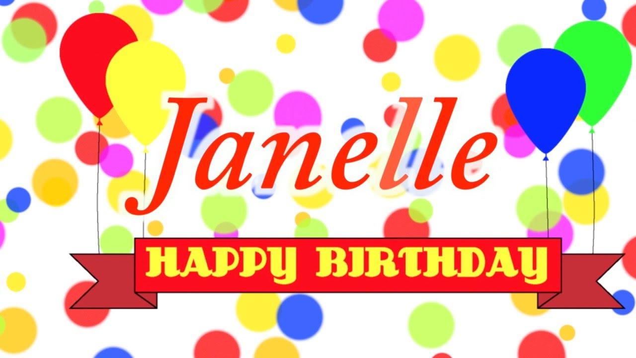 Happy Birthday Janelle Song