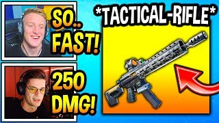 "Streamers React To *NEW* TACTICAL ""ASSAULT RIFLE"" In Fortnite! (CRAZY!) Fortnite Moments"