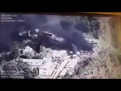 #Pakistan Army destroys #Indian Army's ammunition, fuel dump   Drone Footage