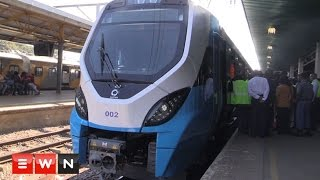 South African Transport minister unveils new fleet metrorail trains
