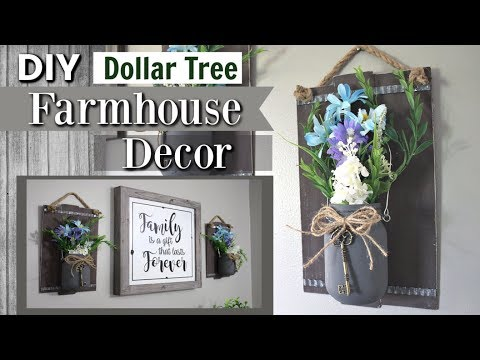 Dollar Tree Farmhouse DIY Decor | DIY Dollar Tree Decor 2019 | Krafts by Katelyn