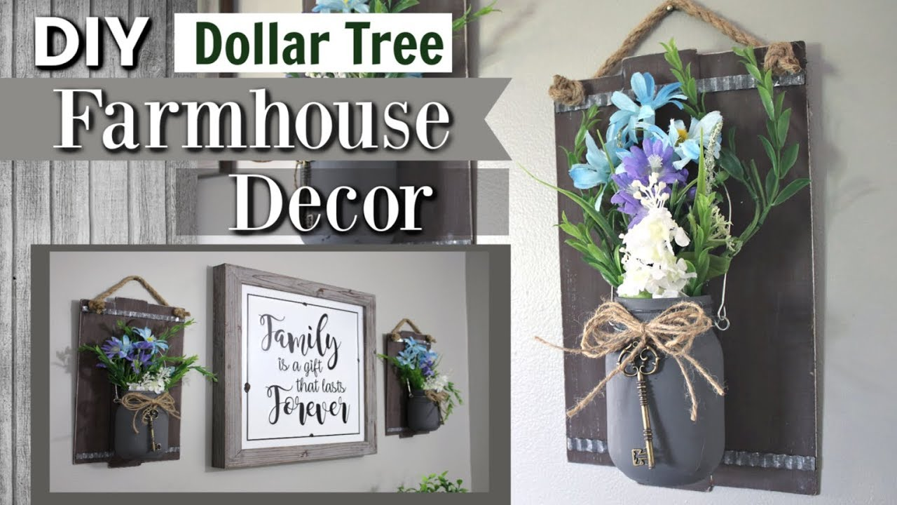Dollar Tree Farmhouse Diy Decor Diy Dollar Tree Decor 2019 Krafts By Katelyn Youtube