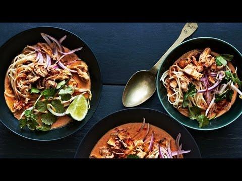 Bon Appetit - Chicken Khao Soi Thai Curry Soup - YouTube