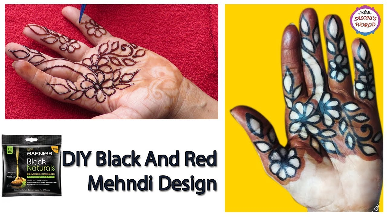 Diy Latest Black And Red Mehndi Designs Arabic How To Make Black